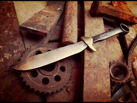 Cuchillo forjado de Llave Mecánica. Knife From a Wrench.