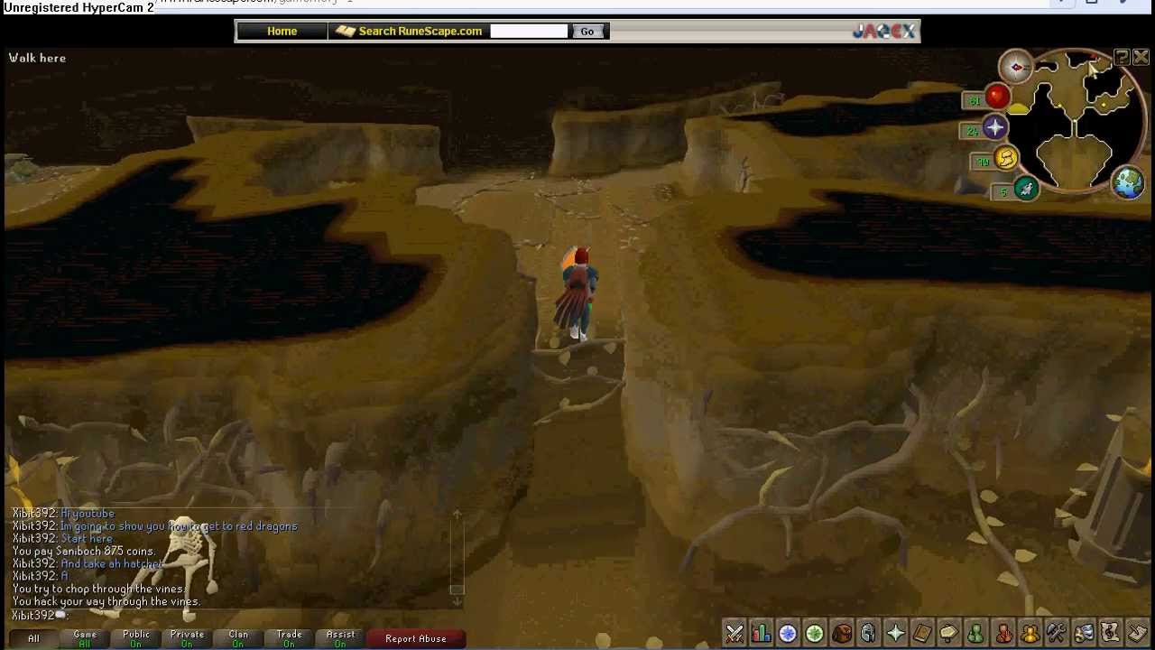 runescape how to get to red dragons