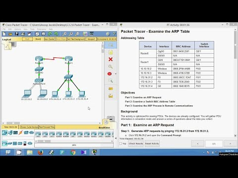 5.3.2.8 Packet Tracer - Examine The ARP Table