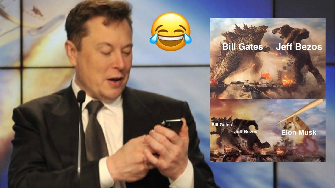 Elon Musk ROASTS Jeff Bezos & Bill Gates With Dogecoin Meme 😂