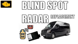 Wymiana czujnika / radaru martwego pola Mercedes Sprinter - Blind spot radar replacament