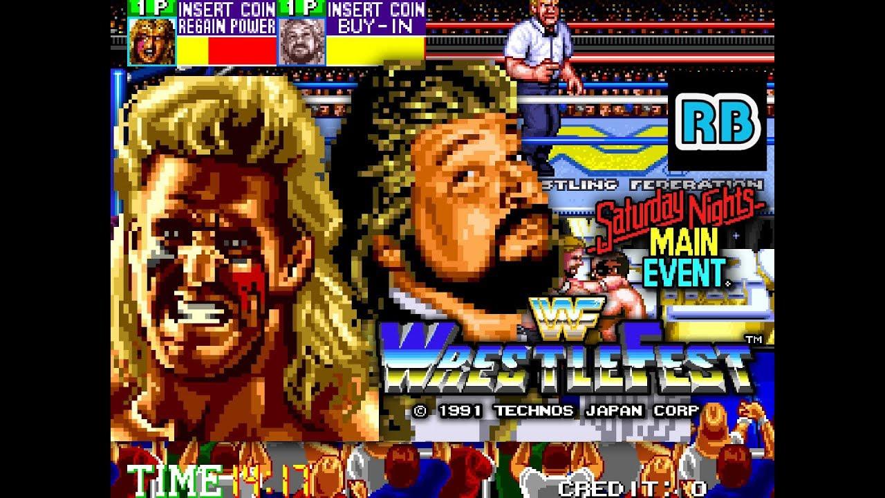 1991 [60fps] WWF WrestleFest Warrior & DiBiase ALL