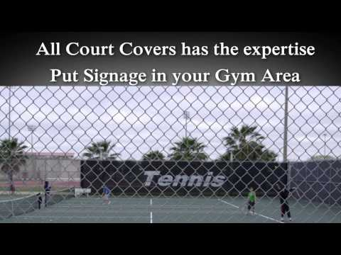 Custom Tennis Windscreens | Vinyl Tennis Court Curtains Logos