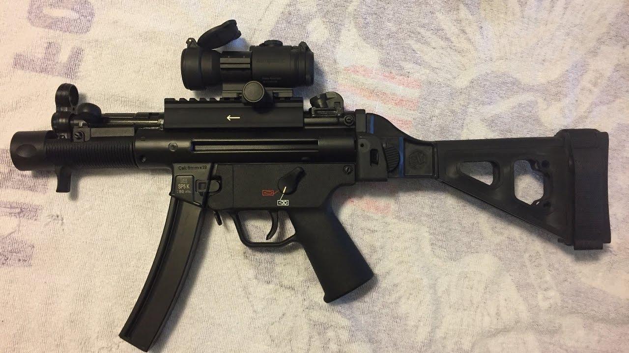 SBT5K Pistol Stabilizing Brace for HK MP5K pattern pistols