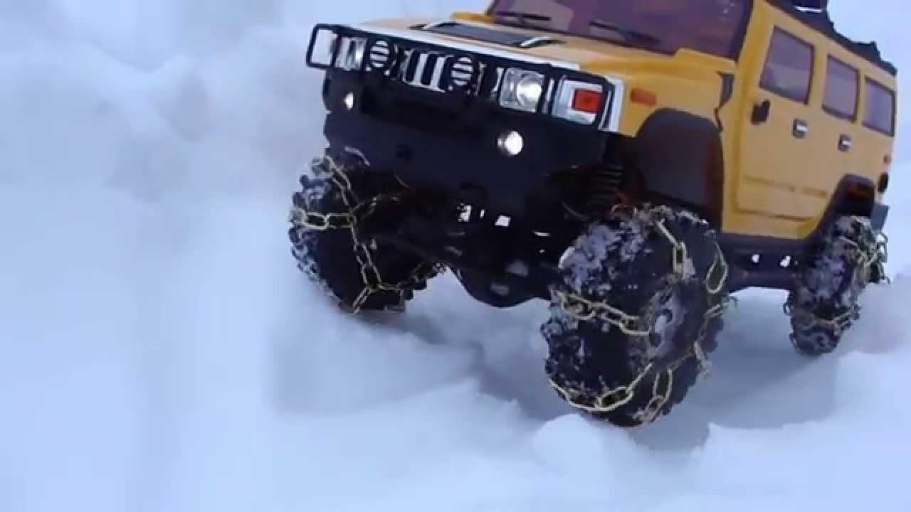 Rc Trail Hummer H2 Snow Chain Trail Scx10 Youtube
