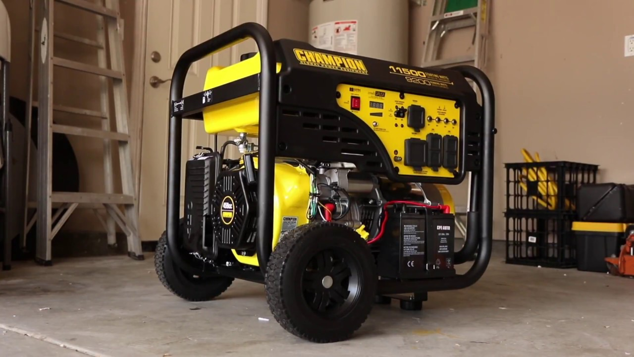 Champion 9200-Watt Portable Generator with Electric Start (Overview 100110)