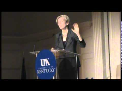 Elizabeth Warren at the University of Kentucky CFPB