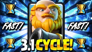 WORLD'S #1 BEST LADDER DECK!! 3.1 ROYAL GIANT CYCLE IS TAKING OVER!! - Clash Royale Royal Giant Deck