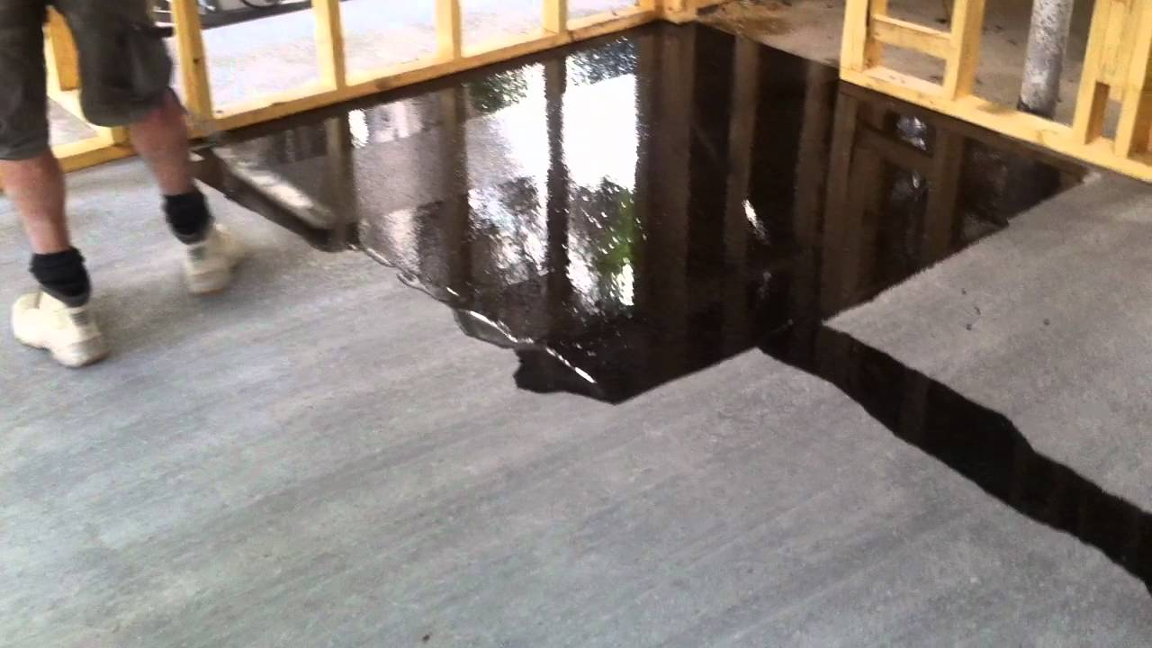 Concrete flooring full gloss sealer youtube for How to clean sealed concrete floors