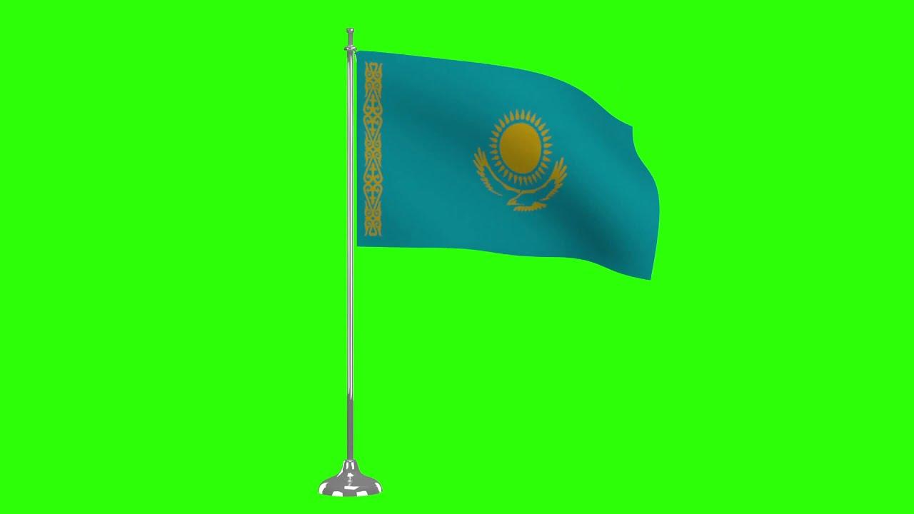 Stock Footage in HD from $19, Flag of Kazakhstan 3D ... |Kazakhstan Animation