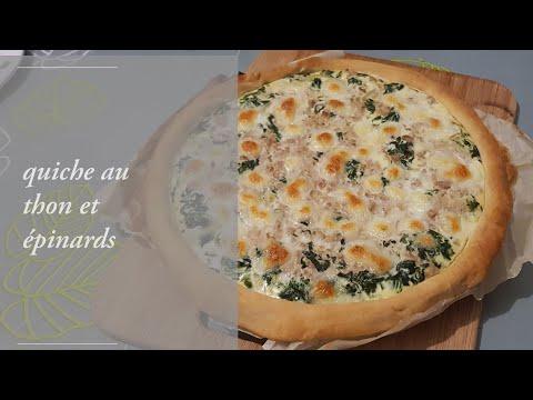 quiche-au-thon-et-épinards-recette-simple-et-rapide