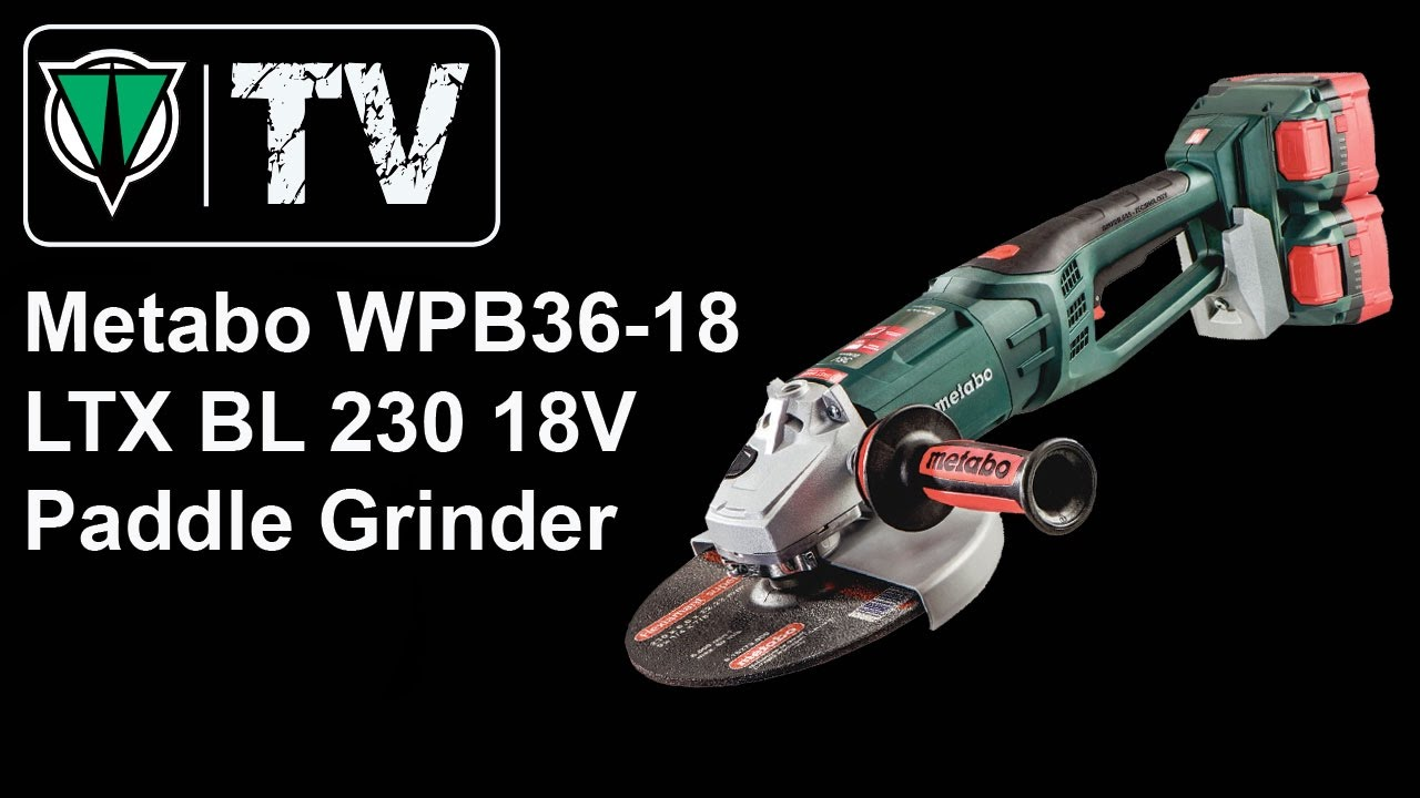 Metabo Wpb36 18 Ltx Bl 230 18v Paddle Grinder Youtube Cordless Angle W18 125