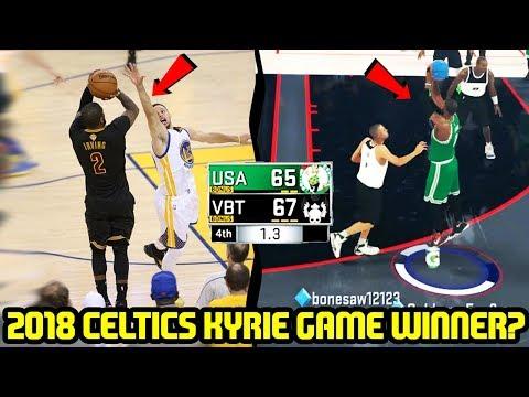 2018 CELTICS! KYRIE HITTING THE SAME GAME WINNER? NBA 2K17 MYTEAM ONLINE GAMEPLAY