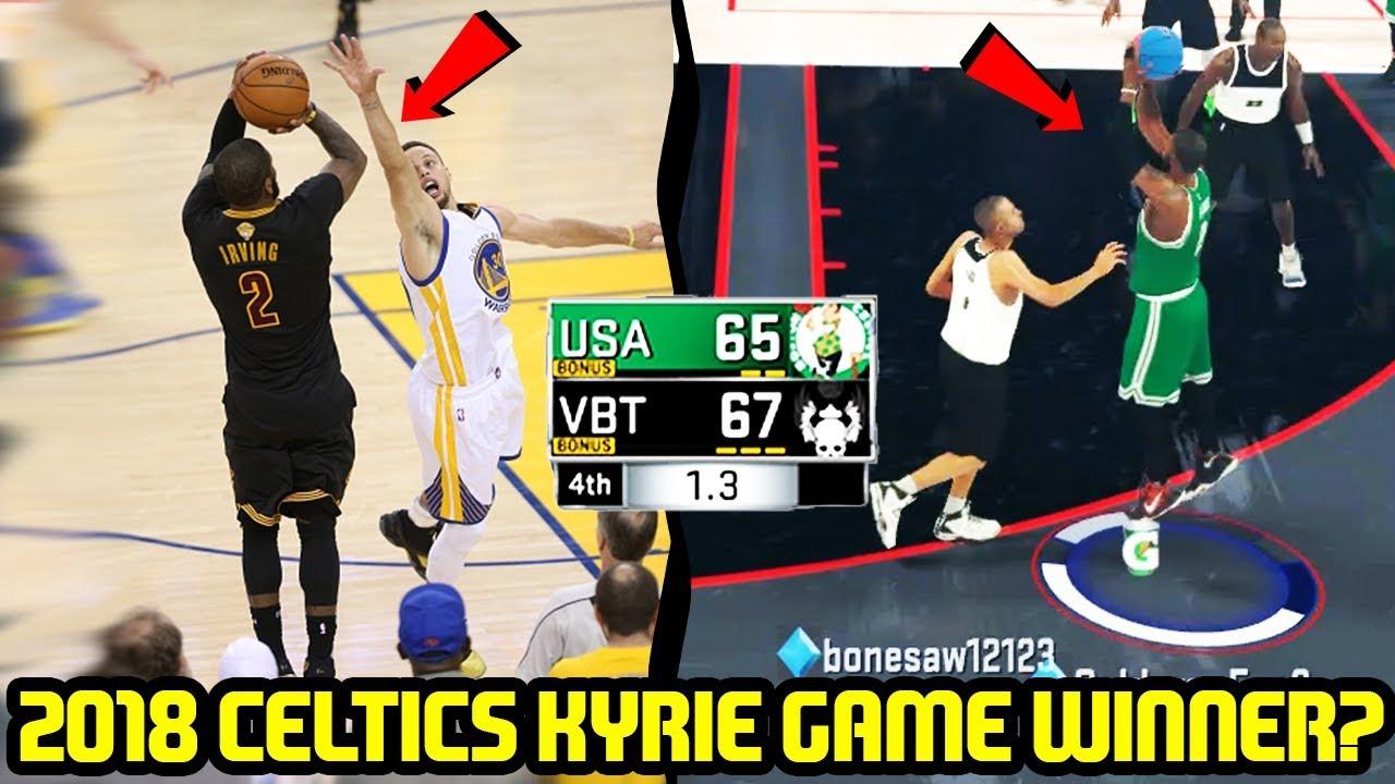 2018 CELTICS! KYRIE HITTING THE SAME GAME WINNER  NBA 2K17 MYTEAM ONLINE  GAMEPLAY ac4fde884