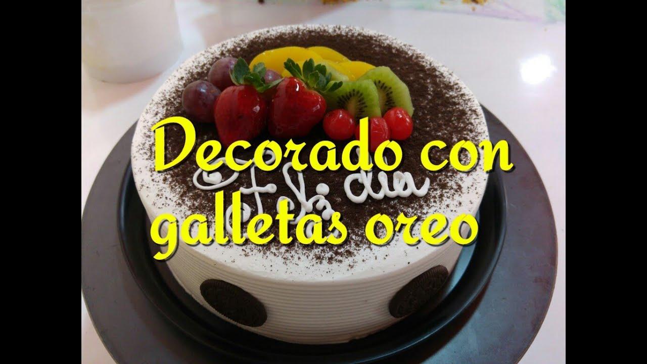 Pastel Decorado Con Galletas Oreo