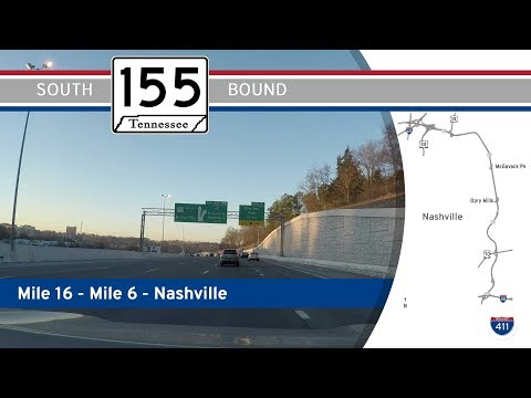 Tennessee Highway 155 - Briley Pkwy - Mile 16 to Mile 6 | Drive America's Highways 🚙