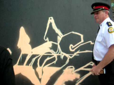 Police Asked by Youth Graffiti Artist to Paint BMX Piece
