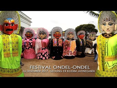Ondel Ondel BINTANG ADZAM Musiknya Paling MENGGELEGAR!! ~ Festival Ondel ondel Gerbang Betawi 2017
