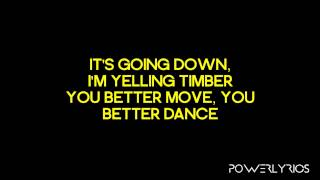 Repeat youtube video Pitbull Feat. Ke$ha - Timber (Lyrics Video)