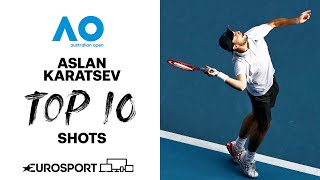 Aslan Karatsev | Top 10 shots | Australian Open 2021 | Tennis