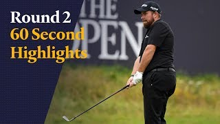 Highlights from Shane Lowry's second Open Championship round