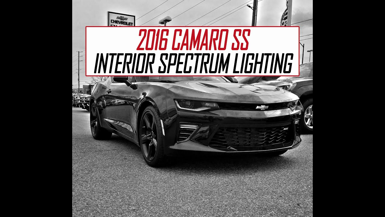 2016 Camaro Using Interior Spectrum Lighting