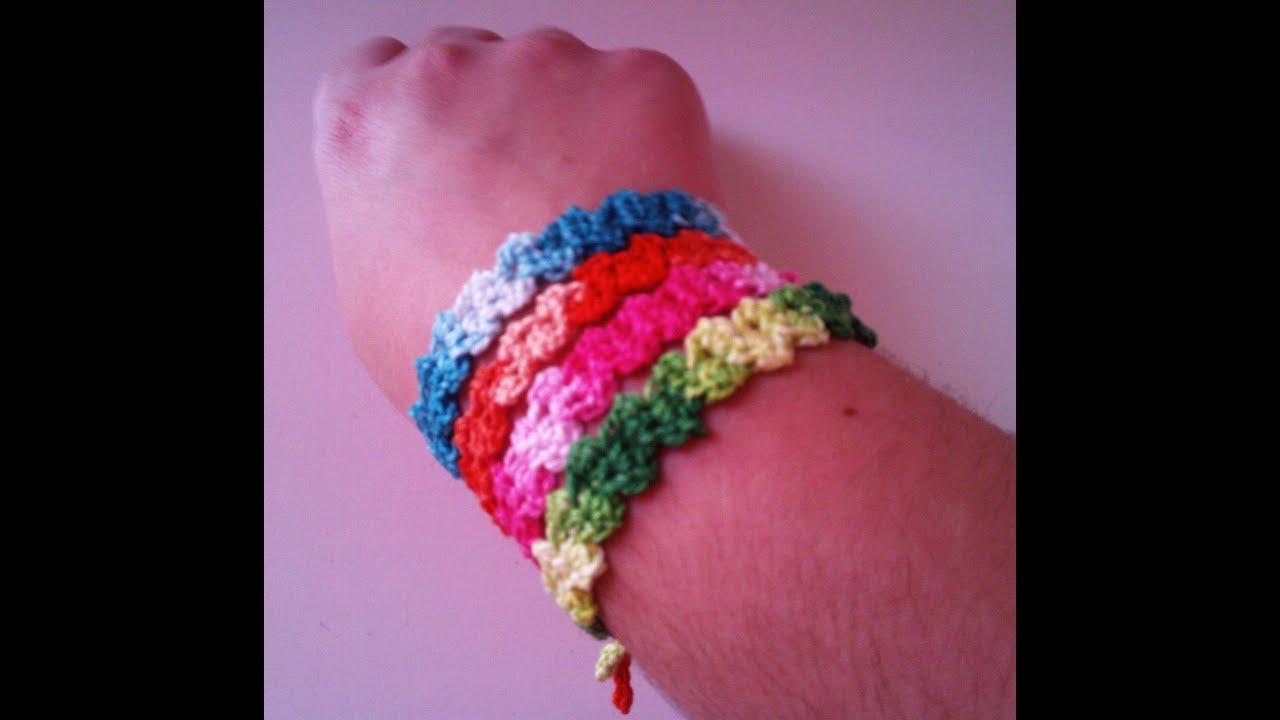 Pulsera zig zag a ganchillo / Crochet bracelet 2016,09,15