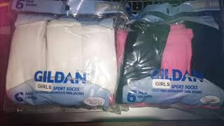 Boxes Of Gildan Girls Socks Imperfect Condition By Closeoutexplosion.com