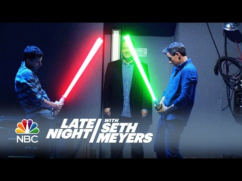 Download Youtube: Office Lightsaber - Late Night with Seth Meyers