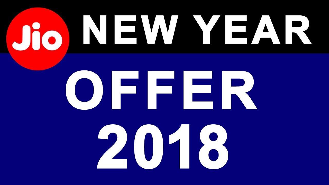 Reliance JIO Happy New Year OFFER 2018 | U20b9199 U0026 U20b9299 New 4G Data Tariff  Recharge Plan