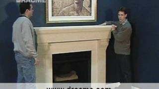 Diy Three Piece Dracme  Cast Stone Fireplace Mantel Installation
