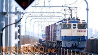 【貨物列車 武蔵野線】72レ EF65 2074 + コキ/ 5094レ EH500-30 + トキ 安中貨物