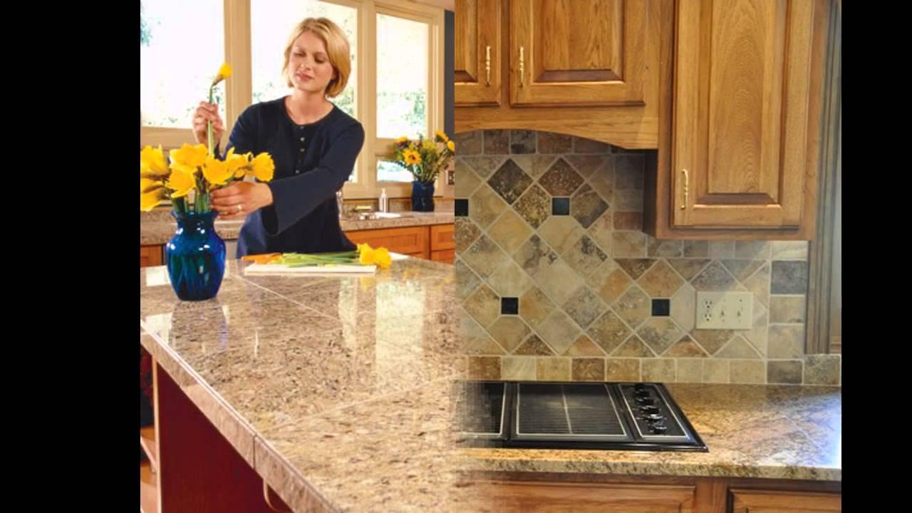 Simple Kitchen Tile Countertop Design Ideas