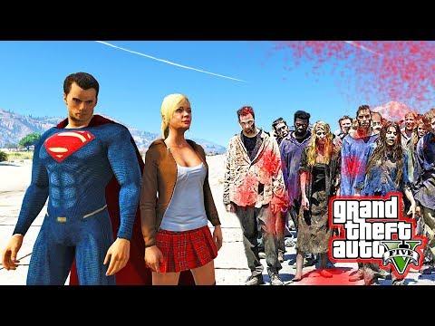 SUPERMAN VS ZOMBIES - GTA 5 Zombie Apocalypse Mod (GTA 5 Mods)