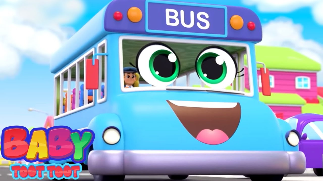 The Wheels On The Bus | Bus Song For Children | Nursery Rhymes and Kids Songs with Baby Toot Toot