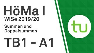 Summen und Doppelsummen – TU Dortmund, Höhere Mathematik I (BCI/BW/MLW)