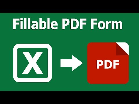 How To Create Editable And Fillable PDF Form From Excel In Adobe Acrobat Pro