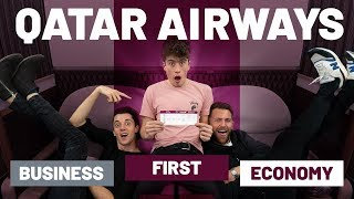 FIRST CLASS SURPRISE - Qatar Airways in all 3 classes | First vs Business vs Economy
