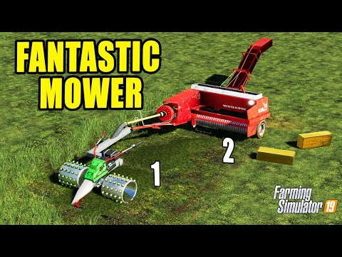 Farming Simulator 19: SMALL GRASS JOB TOOLS !!! 2in1 Mowing And Baling!!! RAPID EURO!!