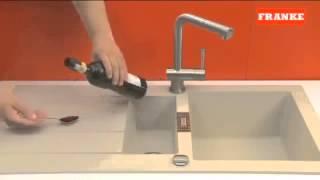 Кухонная мойка Franke Tectonite   тест на прочность