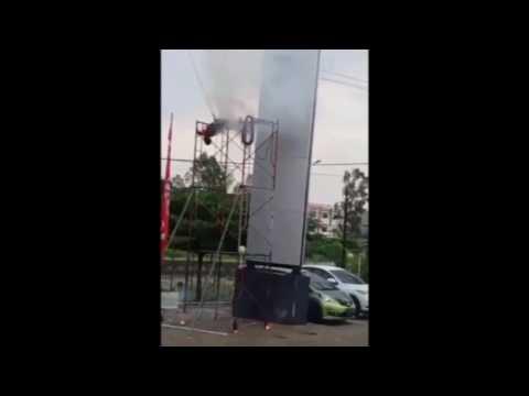 ASTAGHFIRULLAH !!! Detik-detik korban tewas kesetrum di Delaer Honda Soekarno Hatta PEKANBARU