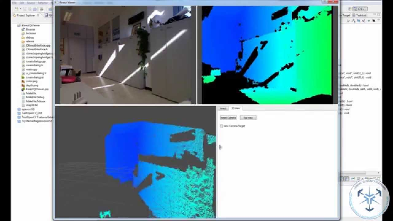 Kinect Interface (libfreenect) and Qt OpenGL Widgets