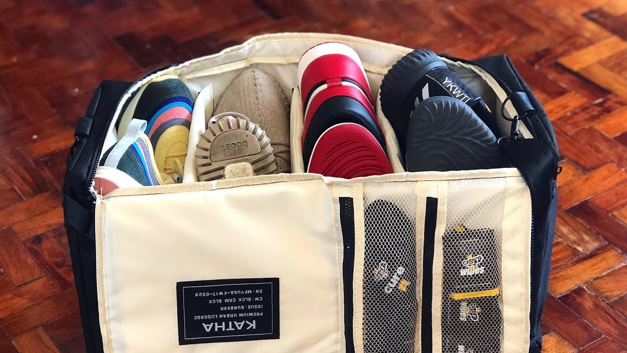 29b8e1691fd Katha Sneaker Duffle Bag: Affordable Pinoy Made Sneaker Bag! - YouTube