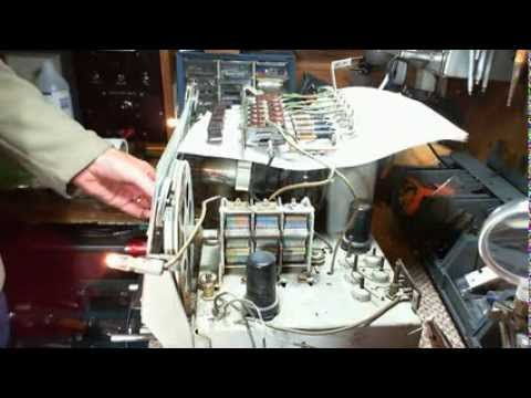 General Electric KL-70 AM/SW Radio Video #10A - Cleaning the Push Button Assembly