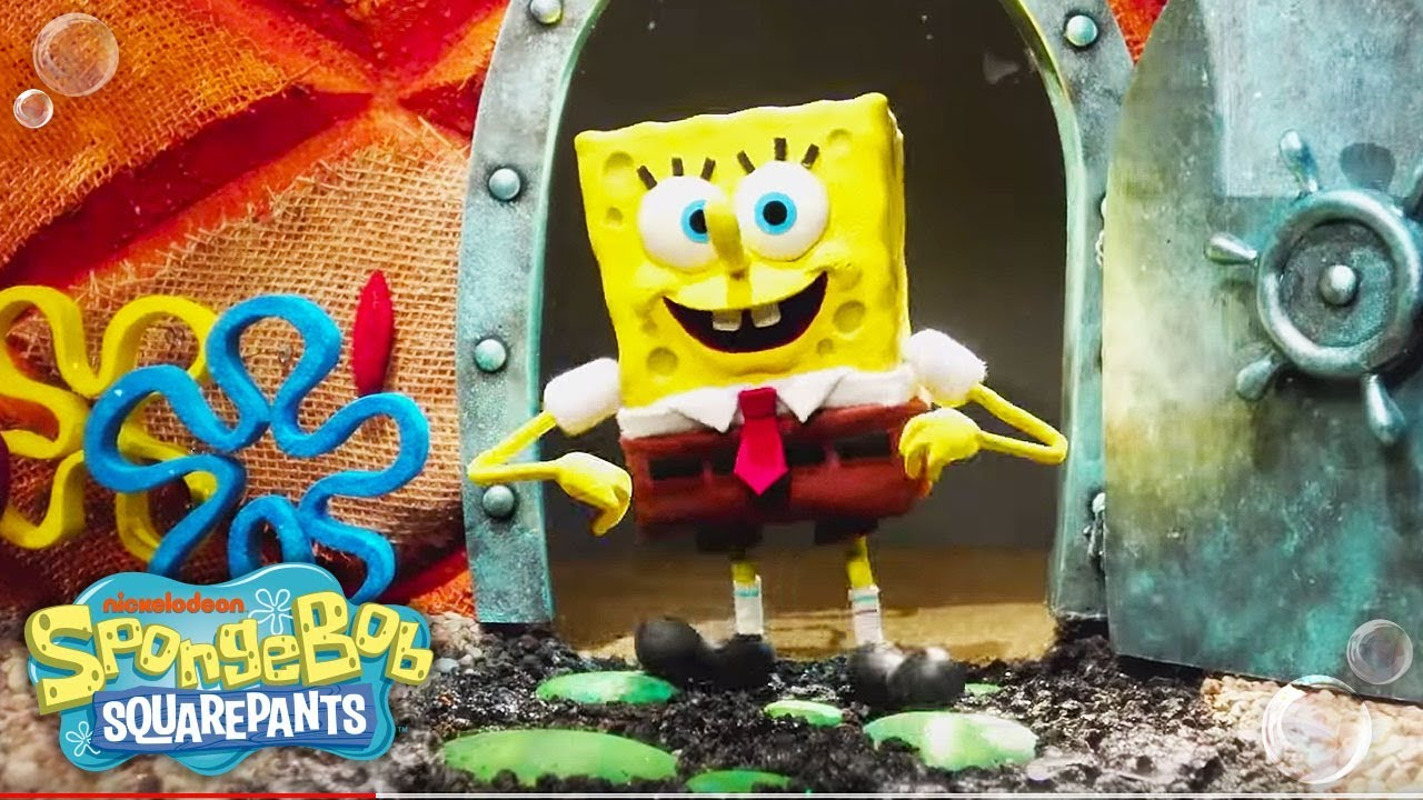 spongebob squarepants 🎤 theme song reimagined in stop motion | nick