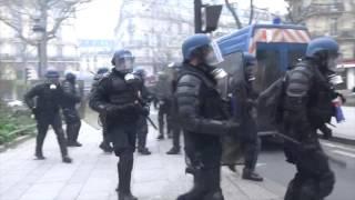 Débordement en marge de la manifestation justice et dignité Paris/France- 19 mars 2017