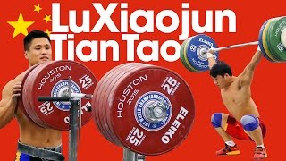 🇨🇳 Lu Xiaojun & Tian Tao Full Session with 275kg Squat 2015 World Weightlifting Championships