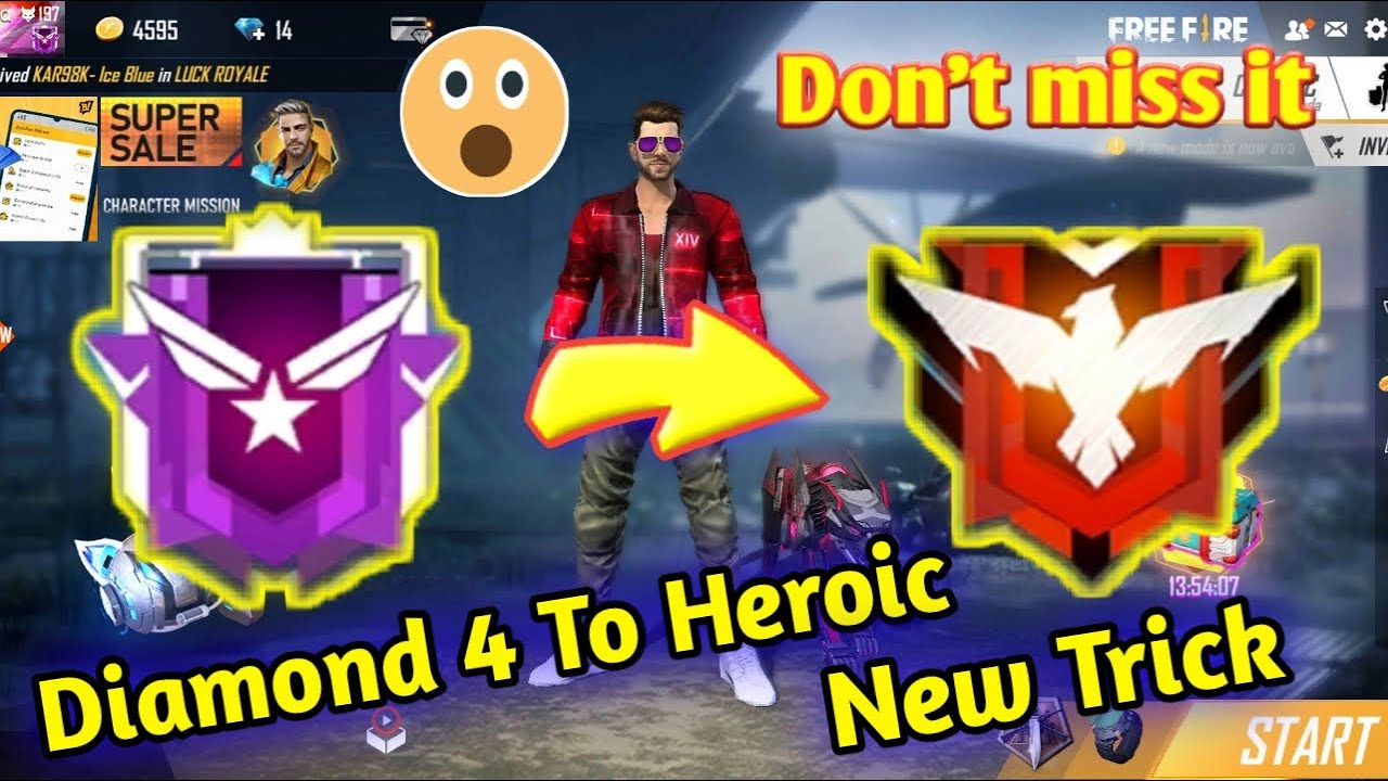 How To Push Rank From Diamond 4 To Heroic In Freefire In 2020 In Hindi Culture Gaming Youtube