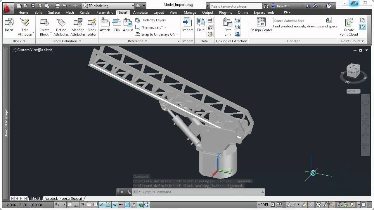 AutoCAD 2013 Autodesk Inventor Fusion - YouTube