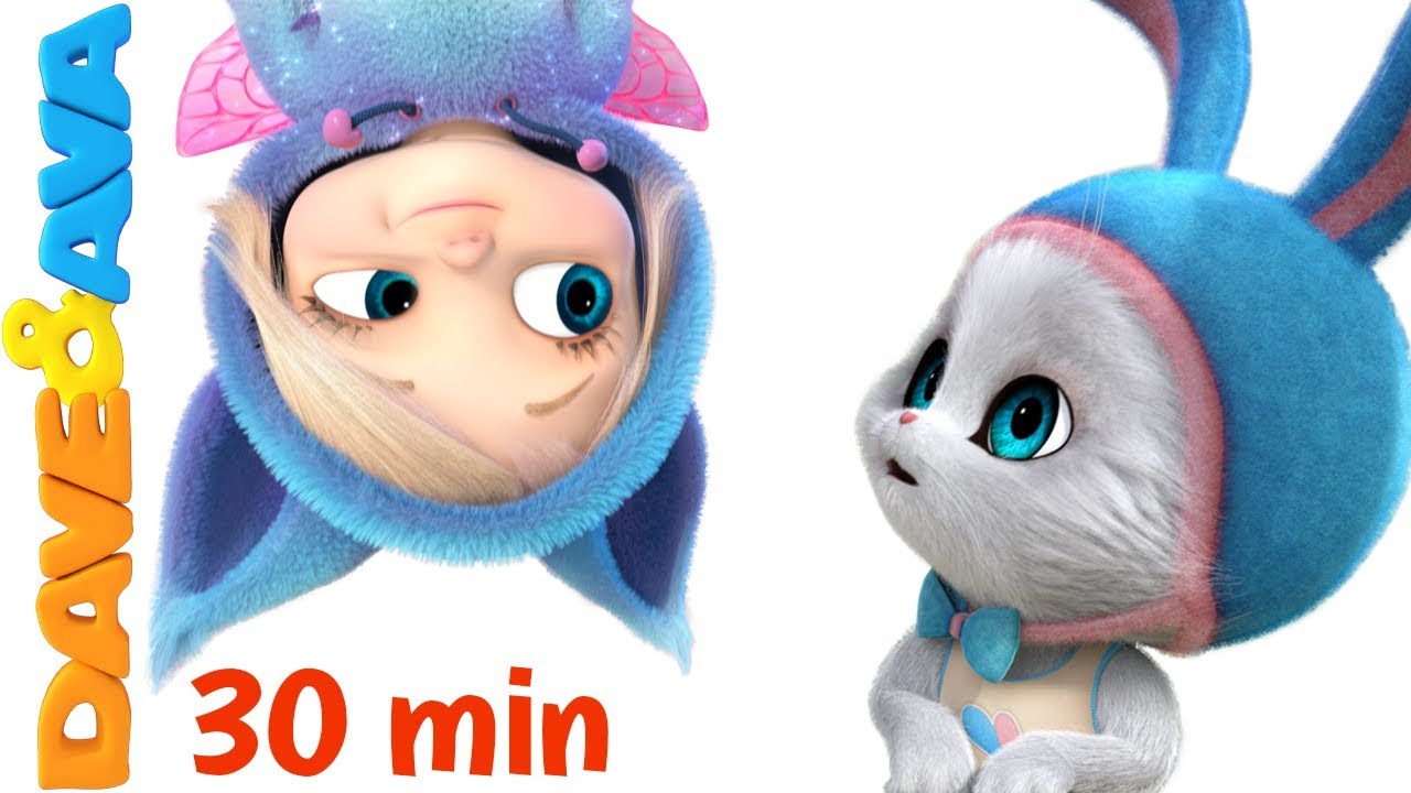 😄 Little Bunny Foo Foo | 30 minutes Nursery Rhymes Collection from Dave and Ava 😄 #1
